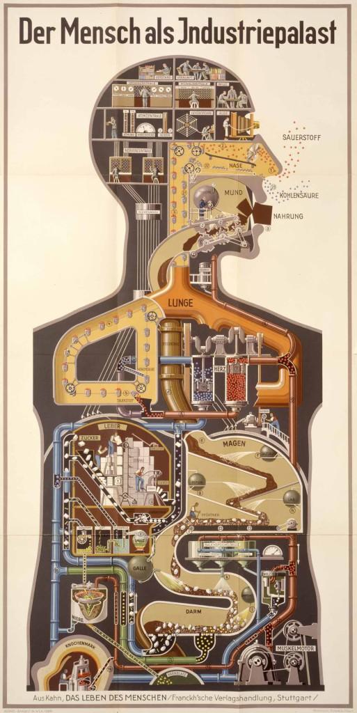Fritz Kahn, Der Mensch als Industriepalast, 1927.